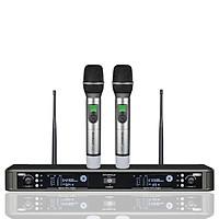 Đầu Thu Karaoke Không Dây Shubole K-9II + 2 Micro Không Dây UHF Chính Hãng