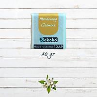 Xà phòng tự nhiên hương Nhài với cánh Nhài khô - Handmade soap Moodswing Jasmine