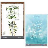 Combo sách kỹ năng hay : Lạc quan hay cười đời ắt thêm tươi + Như mây bình thản như nước thong dong - Tặng kèm bookmark PD books