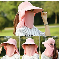 Mũ Nón Chống Nắng UV Vành Rộng Kết Hợp Khẩu Trang 360 Độ (Có thể tháo lắp)