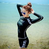 Bikini dài tay màu đen kín đáo đi biển đồ bơi cạp cao đẹp DTWA