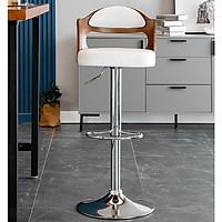 Ghế quầy bar sang trọng đa năng chân bạc sang trọng Ghế Bar tiện ích hiện đại cao cấp GHP002