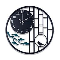 XẢ KHO - Đồng hồ Gỗ treo tường chất liệu gỗ máy kim thiết kế in theo yêu cầu decor trang trí nhà và quán cafe