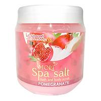 Muối Tắm Spa Mori Quả Lựu Mori Spa Salt - Pomegranate (700ml)