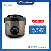 Nồi Cơm Điện Nắp Gài 3D Nagakawa NAG0117 (1.8 Lít) - Màu Đen Tím - Hàng Chính Hãng