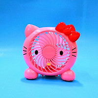 Quạt sạc mini Hello Kitty hồng