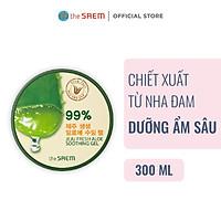 Gel Dưỡng Da Ngăn Ngừa Lão Hóa Chiết Xuất Từ Nha Đam The Saem Jeju Fresh Aloe Soothing Gel 99% 300ml
