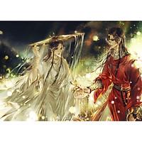 Poster 8 tấm A4 Thiên Quan Tứ Phúc manhua đam mĩ tranh treo album ảnh in hình đẹp (MẪU GIAO NGẪU NHIÊN)