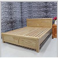 Giường ngủ gỗ sồi nga 1m6 màu tự nhiên