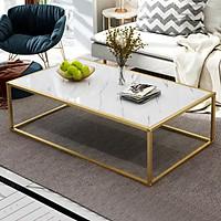 Bàn trà sofa chân sắt, bàn sofa BAT002