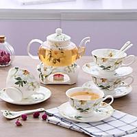 Bộ ấm trà nến Hoa Cúc 4 chén