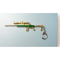 Móc Khóa Game Pubg - Mẫu Mini 14 - Màu Xanh Lá Vàng