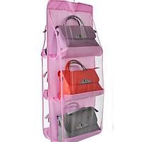 Giá treo 6 ngăn bảo quản túi xách, phụ kiến chống bụi bẩn cao cấp