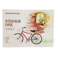 Giấy vẽ màu nước B5 Water Color Pad định lượng 230g 12 tờ (Mẫu xe đạp)