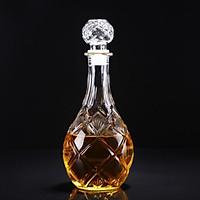 Chai Thủy Tinh đựng Rượu 1000ML Hình GIỌT NƯỚC Hoa Văn Nổi – bình thủy tinh cao cấp 1000ml, chai 1 lít trong suốt