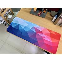 Lót chuột, bàn di chuột, mouse pad kích thước lớn 80x30, 90x40 có may bo viền bề mặt trơn mịn đế cao su chống trượt nhiều mẫu mới 2021