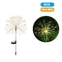 150 LEDs Solar Powered Energy Firework Design Fairy String Light Lawn Lamp with 8 Different Lighting Modes Effects