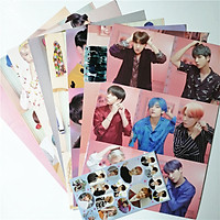 Poster BTS 8 tấm lớn tặng 1 Sticker BTS