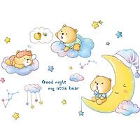 Decal Dán Tường Phòng Ngủ Cho Bé -Good Night My Little Bear