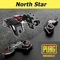 Bộ 2 nút bấm chơi game cap cấp Pubg Mobile North Star hỗ trợ chơi game trên điện thoại - Hàng chính hãng