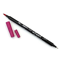 Bút lông hai đầu màu nước Marvy LePlume II 1122 - Brush/ Extra fine tip - Iris Purple (55)
