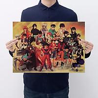 Tranh poster treo tường tấm áp phích hỗn hợp các loại chuyện tranh Naruto, one Piece, 7 viên ngọc rồng vv [ C068 ]