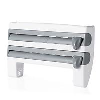 Wall Mounted Roll Dispenser for Tin Foil, Cling Film Kitchen Paper Spice Bottles Towel Holder Rack