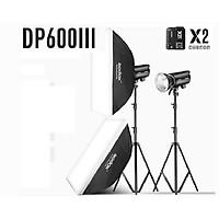 Bộ 2 đèn flash chụp ảnh Godox DP600III Hàng Chính Hãng.