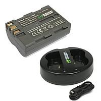 Combo 1 Viên Pin Và Sạc Đôi WASABI EN-EL3E Cho Nikon D90 D300 D700 D70 - Hàng Nhập Khẩu