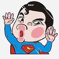 SIÊU NHÂN ANH HÙNG - Sticker transfer hình dán trang trí Xe hơi Ô tô size 18.5x5cm