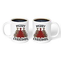 Cốc sứ uống trà cà phê in hình giáng sinh an lành cực đẹp - Cốc quà tặng Noel