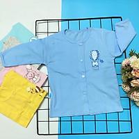 Set 10 áo sơ sinh tay dài cài nút giữa màu nhat T- TomTom Baby