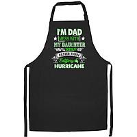 Tạp Dề Làm Bếp In Hình Cha và con gái