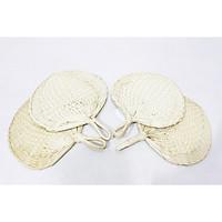 Combo 4 quạt lá cọ đan tay - ST0023