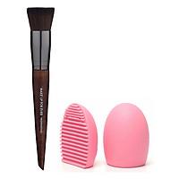 Cọ Đánh Nền Make Up For Ever Precisional 154 Straight And Wavy + Tặng kèm 1 miếng rửa cọ Brush egg