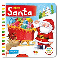 Cambell Fush Full Slide Series: Busy Santa (Christmas books)