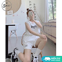 Bộ thể thao ba lỗ nam nữ BT41 unisex, set đồ tập gym tanktop sát nách dáng rộng phong cách Hàn Quốc,vải mát
