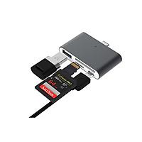Đầu đọc thẻ nhớ Type c đọc thẻ  SD,TF,USB đa năng 4 trong 1 vỏ nhôm cao cấp