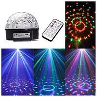 Đèn LED xoay vũ trường 7 màu  cảm ứng âm thanh Blutooth có USB và remote, Đèn LED nháy theo nhạc( tặng kèm đèn ngủ hình nấm)