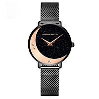Đồng hồ Quartz Hannah Martin Họa Tiết Mặt Trăng Ngôi Sao Starry Sky Dành Cho Các Nàng