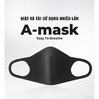 COMBO 3 Cái Khẩu Trang A-Mask 3D Kháng Khuẩn - Lọc Bụi Mịn - Tái Sử Dụng Nhiều Lần