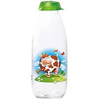 Chai Sữa Thuỷ Tinh Herevin Decor 1L - 111701 (Décor ngẫu nhiên)