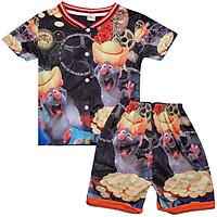 Set đồ bộ quần áo trẻ em in hình 3D Chuột Cầm Vàng siêu dễ thương - Độ tuổi 1 - 10 - AK001