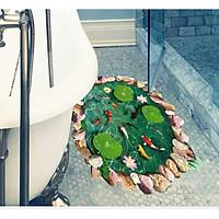 Decal dán tường 3D Hồ Cá  Cổ Điển