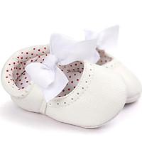 Giày tập đi công chúa phối nơ đáng yêu cho bé gái 0-18 tháng tuổi – TD22