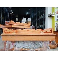Bàn thờ treo tường gỗ xoan ngang 48 cm 1 bộ gồm cả ke đế