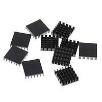 10 Pcs Aluminum GPU Graphic CPU Heatsink Thermal Conduction Pad Cooling Pad