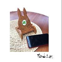 Giá đỡ điện thoại (chú thỏ ) - nguyên liệu dừa