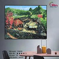 Tranh sơn dầu số hoá tự tô màu Gam VN028 40x50cm căng sẵn khung