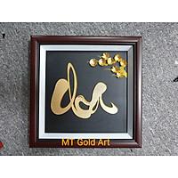 tranh chữ cha dát vàng 24k(30x30cm) MT Gold Art- Hàng chính hãng, trang trí nhà cửa, phòng làm việc, quà tặng cha, sếp, đối tác, khách hàng, tân gia, khai trương